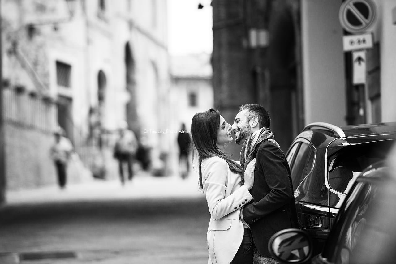 Servizio di Engagement nel centro storico di San Miniato, Pisa, Toscana