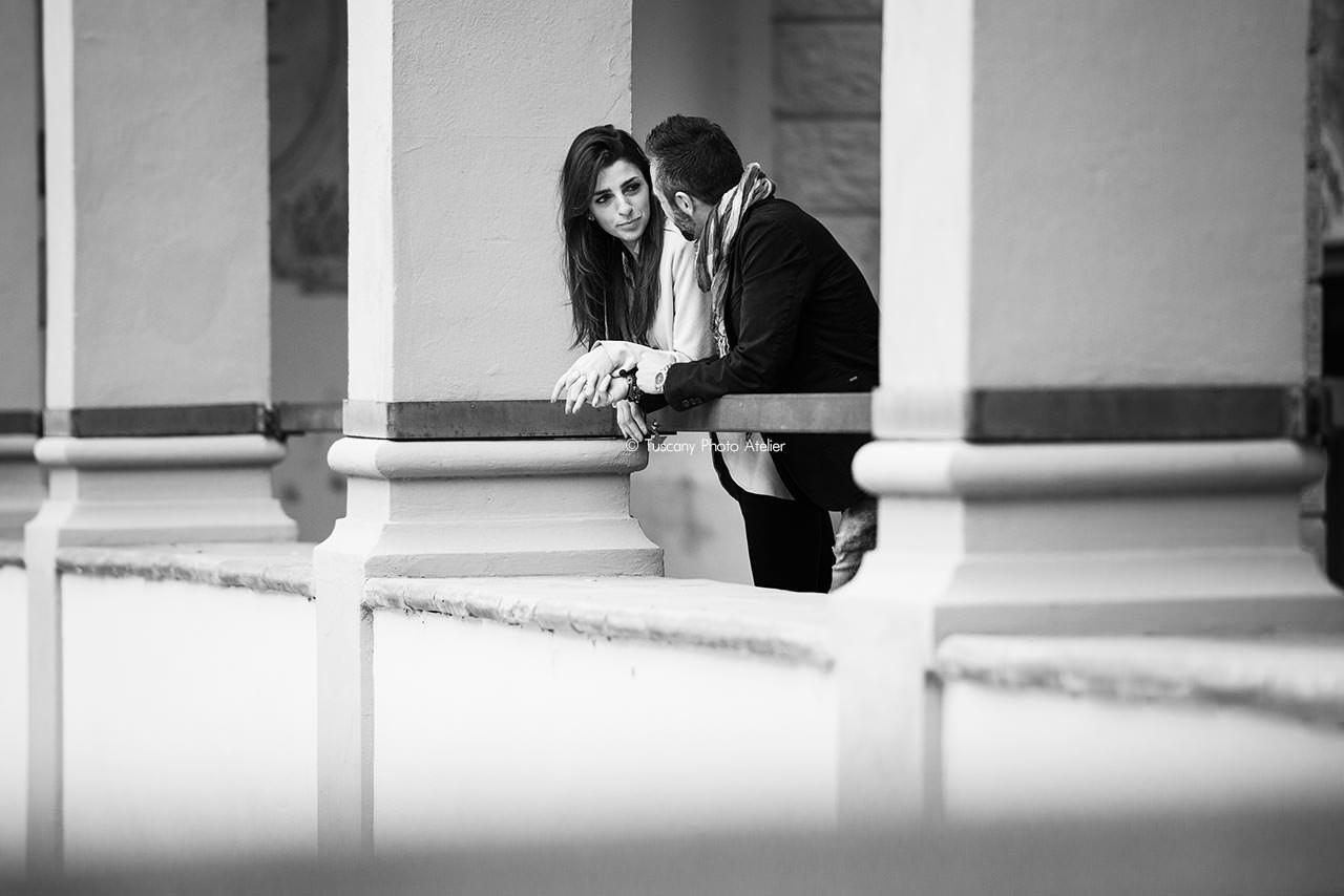 Servizio fotografico prematrimoniale a San Miniato, Pisa, Toscana
