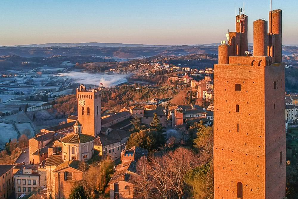Tower of Frederick II and Tower of Matilde in San Miniato