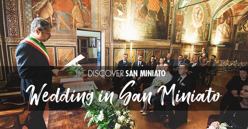 Celebrate wedding in San Miniato in Tuscany