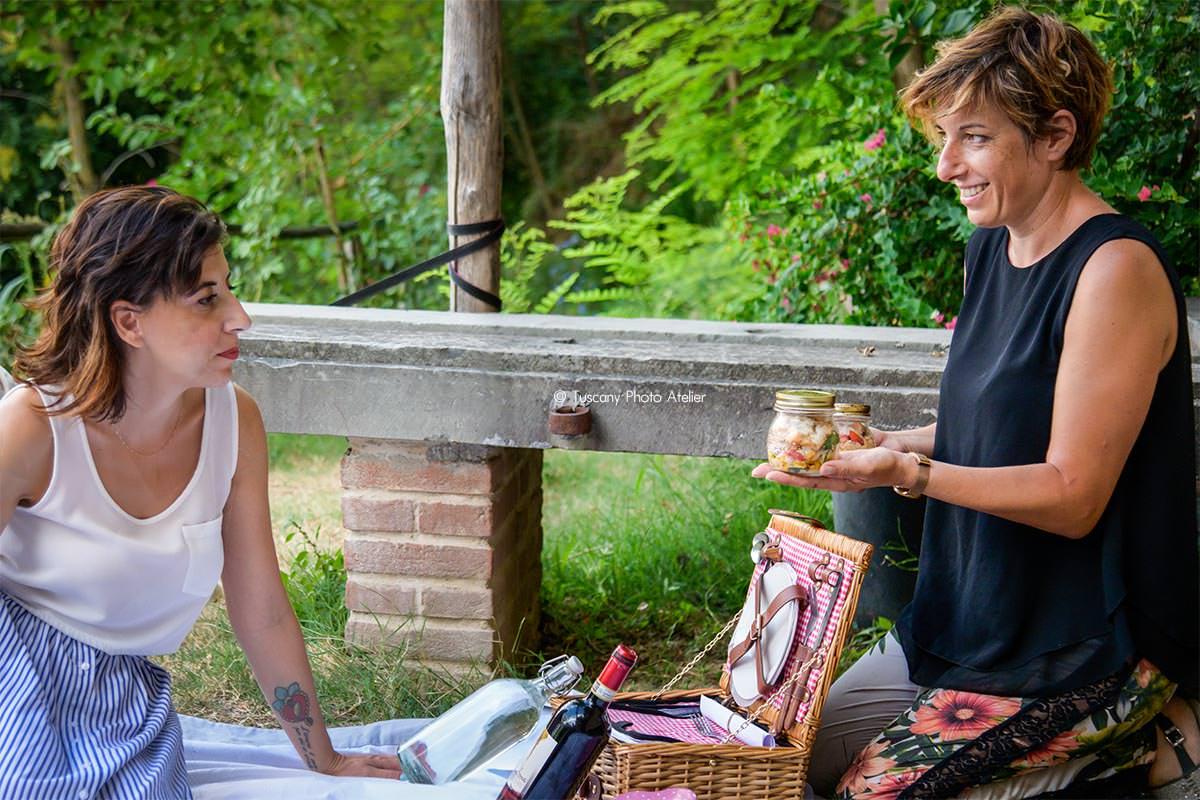 Picnic con prodotti locali a San Miniato